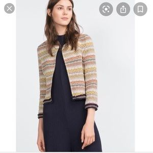 Zara striped jacquard aztec jacket
